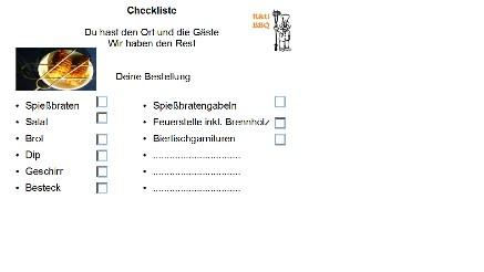 Deine event-Checkliste